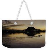 Sunset Canoe Weekender Tote Bag