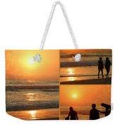 Sunset - Orange Beach Collage Weekender Tote Bag