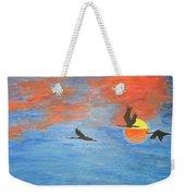 Sunset Cranes Weekender Tote Bag
