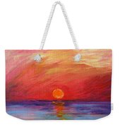 Sunset Delaware Bay Weekender Tote Bag