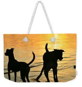 Sunset Dogs  Weekender Tote Bag by Laura Fasulo
