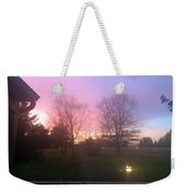 Sunset Elegant Fall Tree Show Skyview Resort Weekend Getaway To Poconos Pa America Usa Landscape Nav Weekender Tote Bag