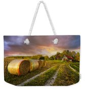 Sunset Farm Weekender Tote Bag by Debra and Dave Vanderlaan