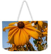 Sunset Flowers Weekender Tote Bag
