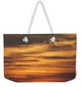 Sunset Flyby Fulton Texas Weekender Tote Bag