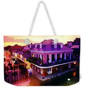 Sunset From The Balcony In The French Quarter Of New Orleans Weekender Tote Bag