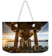 Sunset From Under The Pier Weekender Tote Bag