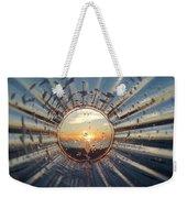 Adelaide Beach Sunset Glass Weekender Tote Bag