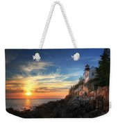 Sunset Glow At Bass Harbor Weekender Tote Bag