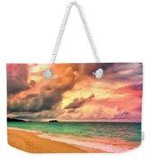 Sunset Glow At Waimanalo Weekender Tote Bag
