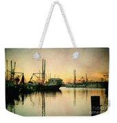 Sunset Harbor Glow Weekender Tote Bag