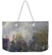 Sunset In A Foggy Fall Day Weekender Tote Bag