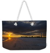 Sunset In Cape May Along The Beach Weekender Tote Bag