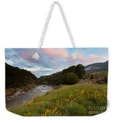 Sunset In Cobb Valley Of Kahurangi Np Of New Zealand Weekender Tote Bag