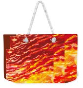 Sunset In Desert Abstract Collage  Weekender Tote Bag