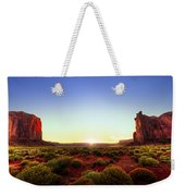 Sunset In Monument Valley Weekender Tote Bag