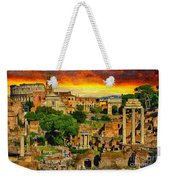 Sunset In Rome Weekender Tote Bag by Stefano Senise