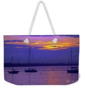 Sunset In Skerries Harbor Weekender Tote Bag