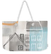 Sunset In The City Weekender Tote Bag by Linda Woods