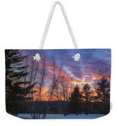 Sunset In The Park Square Weekender Tote Bag
