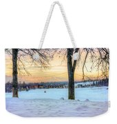 Sunset In The Snow Weekender Tote Bag