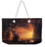 Sunset In The Yosemite Valley Weekender Tote Bag