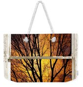 Sunset Into The Night Window View 3 Weekender Tote Bag
