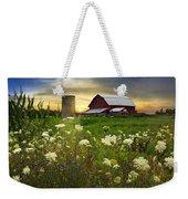 Sunset Lace Pastures Weekender Tote Bag by Debra and Dave Vanderlaan