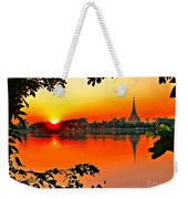 Sunset Leaves Weekender Tote Bag