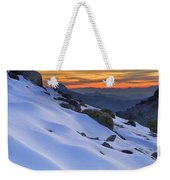 Sunset Light On The Snow Weekender Tote Bag