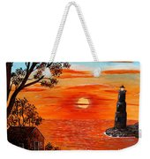 Sunset Lighthouse Weekender Tote Bag