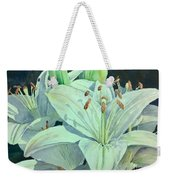 Sunset Lily Weekender Tote Bag