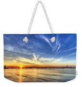 Sunset Mackinac Bridge Weekender Tote Bag