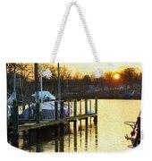 Sunset Marina Weekender Tote Bag