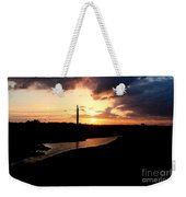 Sunset Of The Trinity River Weekender Tote Bag
