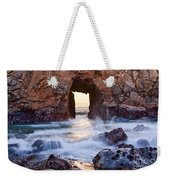 Sunset On Arch Rock In Pfeiffer Beach Big Sur California. Weekender Tote Bag