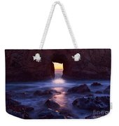 Sunset On Arch Rock In Pfeiffer Beach Big Sur In California. Weekender Tote Bag