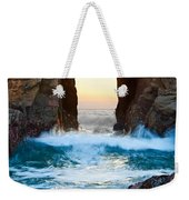 Sunset On Arch Rock In Pfeiffer Beach Big Sur. Weekender Tote Bag