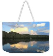 Sunset On Komodo Weekender Tote Bag