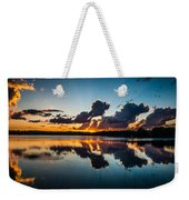 Sunset On Little Pine Lake Weekender Tote Bag