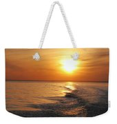 Sunset On Long Island Sound Weekender Tote Bag