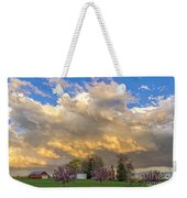 Sunset On Mixed Clouds Weekender Tote Bag