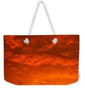 Orange Cloud Sunset Weekender Tote Bag