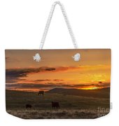 Sunset On Open Range Weekender Tote Bag