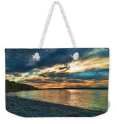 Sunset On Rocky Beach Weekender Tote Bag