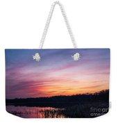 Sunset On Teeple Lake Weekender Tote Bag