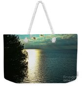 Sunset On The Bay Of Green Bay Wi Weekender Tote Bag