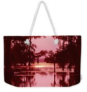 Sunset On The Bayou Atchafalaya Basin Louisiana Weekender Tote Bag