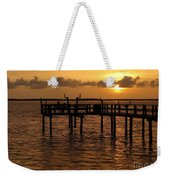 Sunset On The Dock Weekender Tote Bag