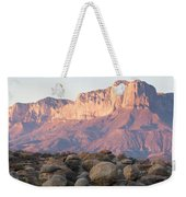 Sunset On The Guadalupe Mountains Weekender Tote Bag